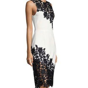 Alice + Olivia Appliquéd Sheath Dress. Size 0